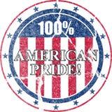 american bedrövad stolthetstämpel Arkivbild