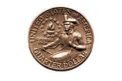 American bicentennial Quarter Stock Photography