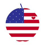 American big apple with heart Royalty Free Stock Photography