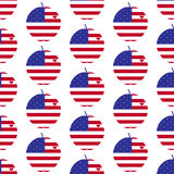 American big apple with heart pattern Stock Photos