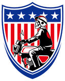 American biker Royalty Free Stock Photos