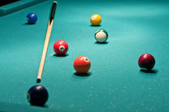 American billiards and pool Stock Photos