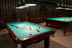 American billiards and pool Stock Image