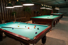 American billiards and pool Stock Images