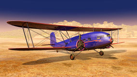 American biplane from the 1930s Stock Photo