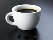 American Black Coffee With Beans Royalty Free Stock Photo