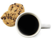 American Black Coffee With Cookie Royalty Free Stock Photography