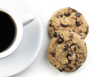 American Black Coffee With Cookie Royalty Free Stock Images