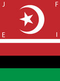 American Black Nationalist Flags. Set of American Black Nationalist and Nation of Islam (NOI) Flags. The NOI flag is unique from the Turkish flag in that its Stock Photo