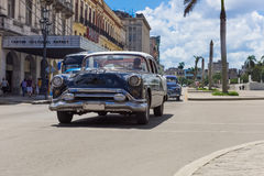 American black Oldtimer drived on the main street in Havana Cuba - Serie Kuba 2016 Reportage Royalty Free Stock Photo