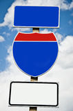 American blank road sign Stock Photos