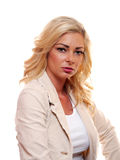 American Blond Woman royalty free stock photography