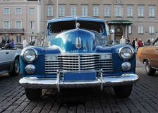 American Blue Car Royalty Free Stock Image