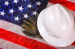 American Blue Collar Worker Gear stock image