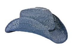 American blue straw cowboy hat Royalty Free Stock Images
