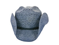 American blue straw cowboy hat Stock Photo