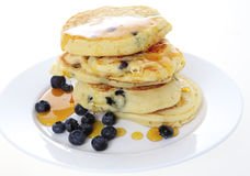 American blueberry pancakes Stock Photography