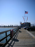 American boardwalk by the beach Stock Image