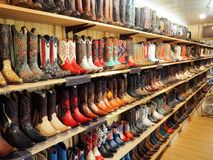 American boots. Beautiful american boots in a country show stock images