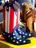 American boots. Beautiful american boots in a country show stock image