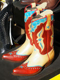 American boots. Beautiful pair of american boots in a country show stock photo