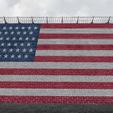 American Border Wall Stock Images