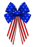 American Bow. An illustration of an isolated patriotic bow and ribbon with stars and stripes design stock illustration