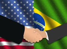American Brazilian meeting Stock Photos