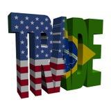 American Brazilian Trade illustration Stock Image