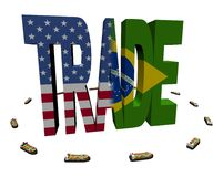 American Brazilian trade with ships Royalty Free Stock Photography