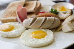 American breakfast Stock Image