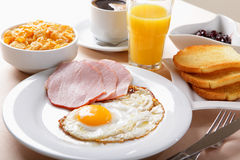 American breakfast royalty free stock photo