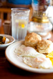 American Breakfast. With Biscuits and Eggs royalty free stock image