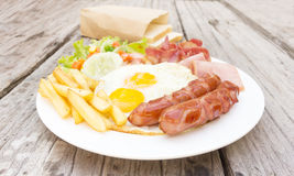 American  breakfast Stock Photos