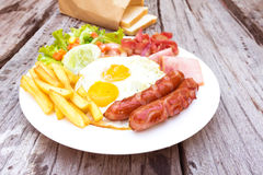 American  breakfast Royalty Free Stock Photography