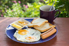 American breakfast. Stock Photos