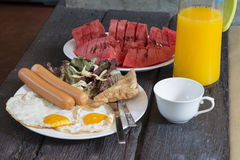 American breakfast Royalty Free Stock Image