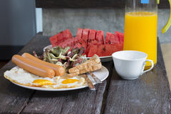 American breakfast Stock Photography