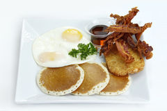 American breakfast pancakes Stock Images
