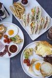 American Breakfast and Sandwich. stock image