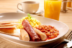 American Breakfast set Stock Photos