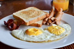 American breakfast on a table Stock Photo
