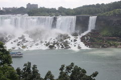 American and Bridal Veil Falls Royalty Free Stock Image