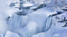 American and Bridal Veil Falls in Winter Gadb Royalty Free Stock Images