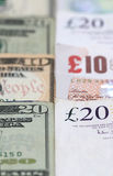American and British Currency Stock Images