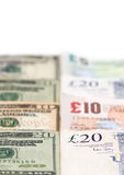 American and British Currency Stock Image