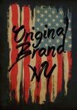 American broken flag / vintage flag design / original tee print Royalty Free Stock Photos