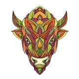 American Buffalo Bison Mandala Royalty Free Stock Image