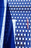 American building with flag Royalty Free Stock Image