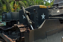 American Bulldozer on display at War Remnants Museum. Royalty Free Stock Images